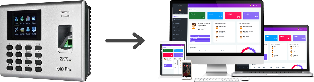 School Management Biometric To Web App